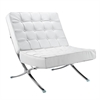 Pavilion Chair in Italian Leather, White