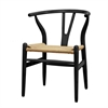 Fine Mod Imports Woodstring Dining Chair, Black
