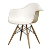 Fine Mod Imports WoodLeg Dining Arm Chair, White