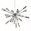 "Fine Mod Imports Spark Hanging Chandelier 23"", Silver"