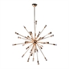 "Spark Hanging Chandelier 39"", Gold"