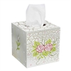 Fantasy Fields - Crackled Rose Tissue Box Cover
