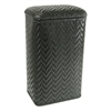 Redmon Elegante Collection Apartment Hamper, Black