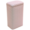 Redmon Elegante Collection Apartment Hamper, Crystal Pink