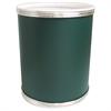 Redmon Budget Series Vinyl Round Wastebasket, Green/Silver