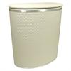 Redmon Capri Classic Bowed Front Hamper, Cream/Silver