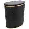Capri Classic Bowed Front Hamper, Espresso/Gold