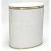 Redmon Capri Classic Bowed Front Hamper, White/Gold
