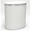 Capri Classic Bowed Front Hamper, White/Silver