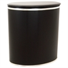 European Edition Vinyl Oval Hamper, Black