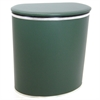 Redmon European Edition Vinyl Oval Hamper, Green