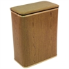 Redmon Woodgrain Vinyl Hamper, Oak/Gold