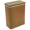 Woodgrain Vinyl Hamper, Oak/Silver