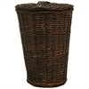 Round Willow Hamper with Matching Lid - Espresso, Espresso