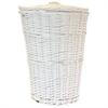 Redmon Round Willow Hamper with Matching Lid - White, White