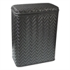 Redmon Elegante Collection Decorator Color Wicker Hamper, Black