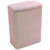 Redmon Elegante Collection Decorator Color Wicker Hamper, Crystal Pink