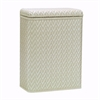 Elegante Collection Decorator Color Wicker Hamper, Cream