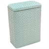 Redmon Elegante Collection Decorator Color Wicker Hamper, Herbal Green