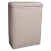 Redmon Elegante Collection Decorator Color Wicker Hamper, Mocha