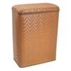 Redmon Elegante Collection Decorator Color Wicker Hamper, Nutmeg