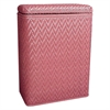 Redmon Elegante Collection Decorator Color Wicker Hamper, Raspberry