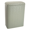 Redmon Elegante Collection Decorator Color Wicker Hamper, Sage Green