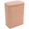 Elegante Collection Decorator Color Wicker Hamper, Tea Rose