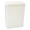 Elegante Collection Decorator Color Wicker Hamper, White
