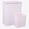 Chelsea Collection Hamper with Matching Square Wastebasket, CRYSTAL PINK