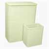 Chelsea Collection Hamper with Matching Square Wastebasket, HERBAL GREEN