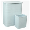 Redmon Chelsea Collection Hamper with Matching Square Wastebasket, ILLUSION BLUE