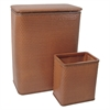 Chelsea Collection Hamper with Matching Square Wastebasket, NUTMEG