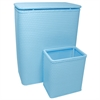 Chelsea Collection Hamper with Matching Square Wastebasket, SKY BLUE
