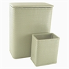 Redmon Chelsea Collection Hamper with Matching Square Wastebasket, SAGE GREEN