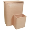 Redmon Chelsea Collection Hamper with Matching Square Wastebasket, TEA ROSE