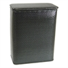 Chelsea Collection Decorator Color Wicker Hamper, Black