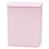 Chelsea Collection Decorator Color Wicker Hamper, Crystal Pink