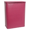 Redmon Chelsea Collection Decorator Color Wicker Hamper, Raspberry