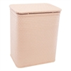 Redmon Chelsea Collection Decorator Color Wicker Hamper, Tea Rose