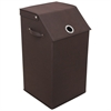 Redmon Flop Top Laundry Hamper, Espresso