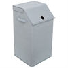 Flop Top Laundry Hamper, Gray