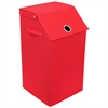 Redmon Flop Top Laundry Hamper, Red