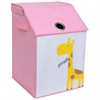 KIDS SAFARI Flip Top Nursery Hamper, Pink