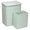 Redmon Chelsea Pattern Wicker Nursery Hamper and Matching Wastebasket Set, Herbal Green