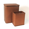 Chelsea Pattern Wicker Nursery Hamper and Matching Wastebasket Set, Nutmeg
