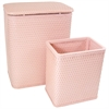 Redmon Chelsea Pattern Wicker Nursery Hamper and Matching Wastebasket Set, Tea Rose