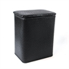 Redmon Chelsea Pattern Wicker Nursery Hamper, Black