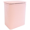 Redmon Chelsea Pattern Wicker Nursery Hamper, Crystal Pink