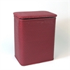 Redmon Chelsea Pattern Wicker Nursery Hamper, Raspberry